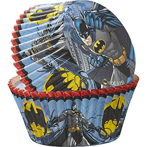Wilton 50 Count Batman Baking Cups, Multicolor