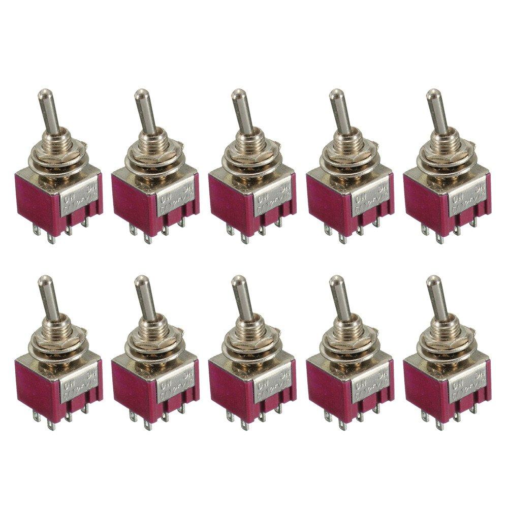 E Support 10 X Momentschalter Kfz EIN//Aus//EIN Mini Miniatur Kippschalter Instrumententafel Strich Wippschalter 6-polig