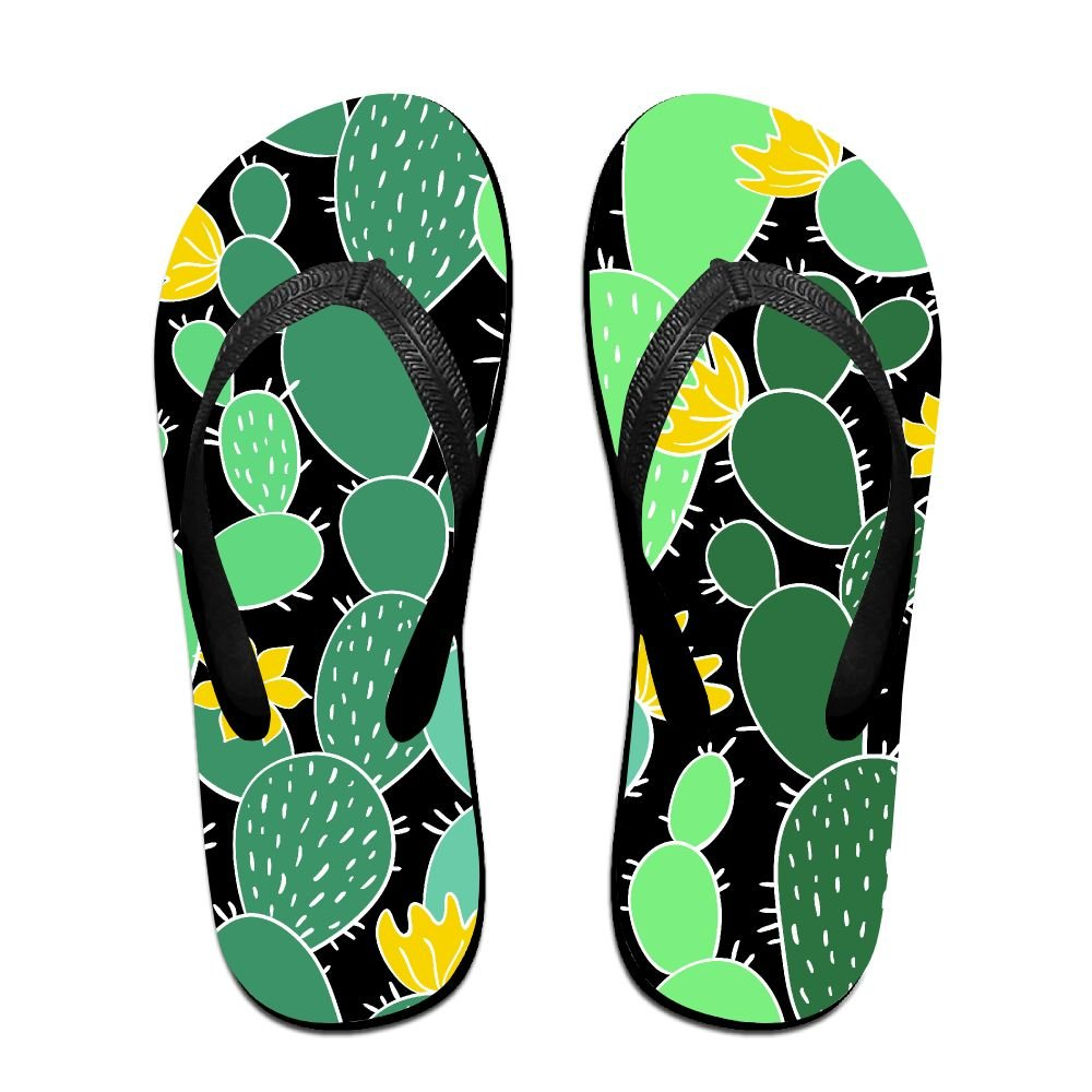 Couple Flip Flops Cacti Repeat Print Chic Sandals Slipper Rubber Non-Slip House Thong Slippers