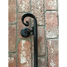 Scroll Wrought Iron Hand Rail (3')