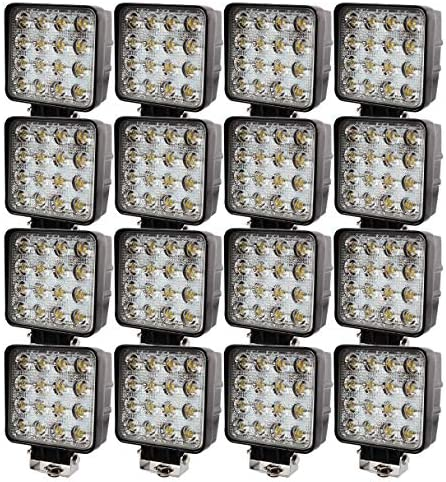Brightum 48w 4 3 Led Work Light Arbeitsscheinwerfer 12v 24v 16 Stück Auto