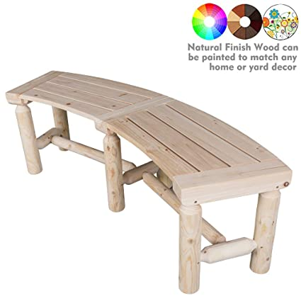 Excellent Kdgarden Outdoor Wooden Curved Backless Bench Rustic Style 3Ft Cedar Fir Wood Log Fire Pit Bench For Patio Garden Deck And Backyard 40 X 14 Ncnpc Chair Design For Home Ncnpcorg