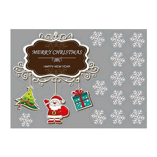 Eizur Abnehmbar Weihnachtssticker Santa Und Baum Fensterbilder