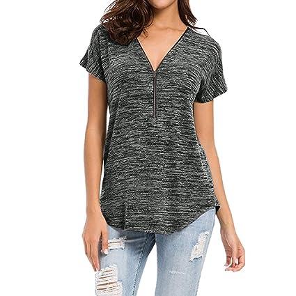 c616a7d8542 Amazon.com: Tops for Women LJSGB Long Tunic Tops for Women Ladies ...