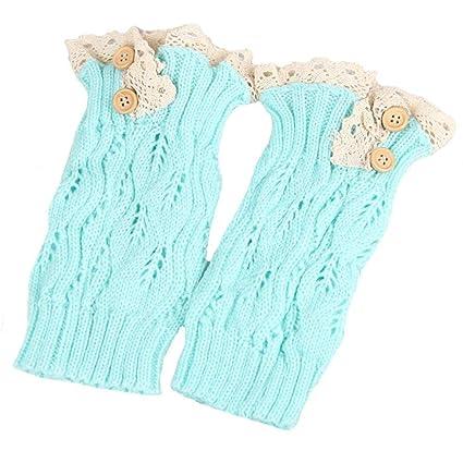 Mujeres Crochet Knit Boot Cuffs Leg Warmer Calcetines Winter Leg Sock para niñas Mujeres
