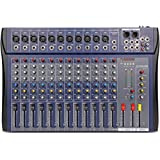 XTUGA CT-120S USB Professional Stage Audio Mixer Built-in Digital Effect Mixer with 48V Phantom Power Music Mixer 12 Channel
