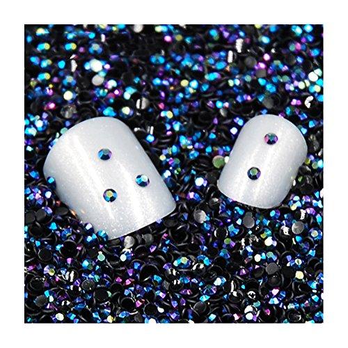 - Gracefulvara 3D Nail Art Decorations,Black Crystal Rhinestone Diamond Gems