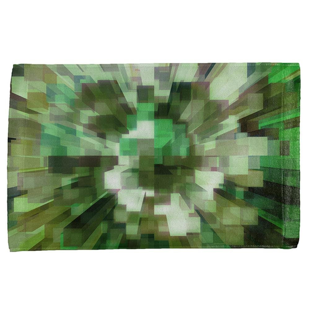 World Game Builder Camo Blocks All Over Hand Towel Multi Standard One Size