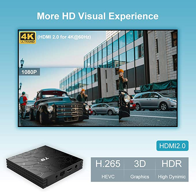 Android TV Box, T9 Android 9.0 TV Box 2GB RAM / 16GB ROM RK3318 ...