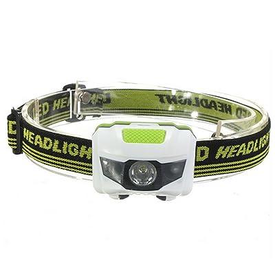 3 LEDs Lampe de poche - Pêche WinCret 300 Lumens Chasse Outdoor Casque phares, 3 piles AAA ampoule de phare, imperméable à l'eau, Bandeau réglable