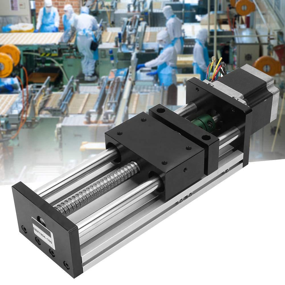 Aluminiumlegierung Linearf/ührungsschiene mit 57 Motoren f/ür die Automatisierungsindustrie Linearschiene,Linearschienenf/ührung Doppelwellen-Kugelumlaufspindel Hub 500 mm