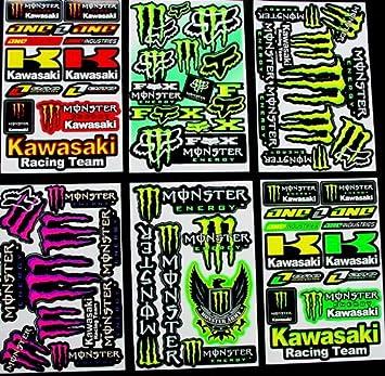 6 Blatt Aufkleber Vinyl Kl Motocross Stickers Bmx Bike Pre Cut Sticker Bomb Pack Metal Rockstar Energy Scooter Auto