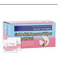 100 unids Desechable Almohadillas removedor de esmalte de uñas de gel UV Esmalte de uñas de almohadillas Limpieza rapida