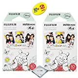 Fujifilm Instax Mini 8 Instant Film 2-PACK (20 Sheets) For Fujifilm Instax Mini 8 Cameras - Winnie The Pooh