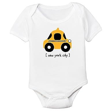 28ade03ce Amazon.com  The Spunky Stork NYC Taxi Organic Cotton Baby Bodysuit ...