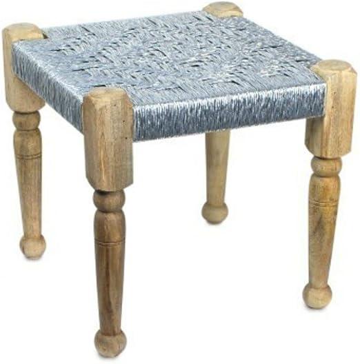 CAPRILO Taburete de Bambú Decorativo. Mobiliario Jardín. Muebles Auxiliares. 40 x 40 x 40 cm.: Amazon.es: Hogar