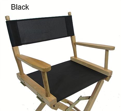 Astounding Mesh Directors Chair Replacement Cover Round Stick Black Machost Co Dining Chair Design Ideas Machostcouk