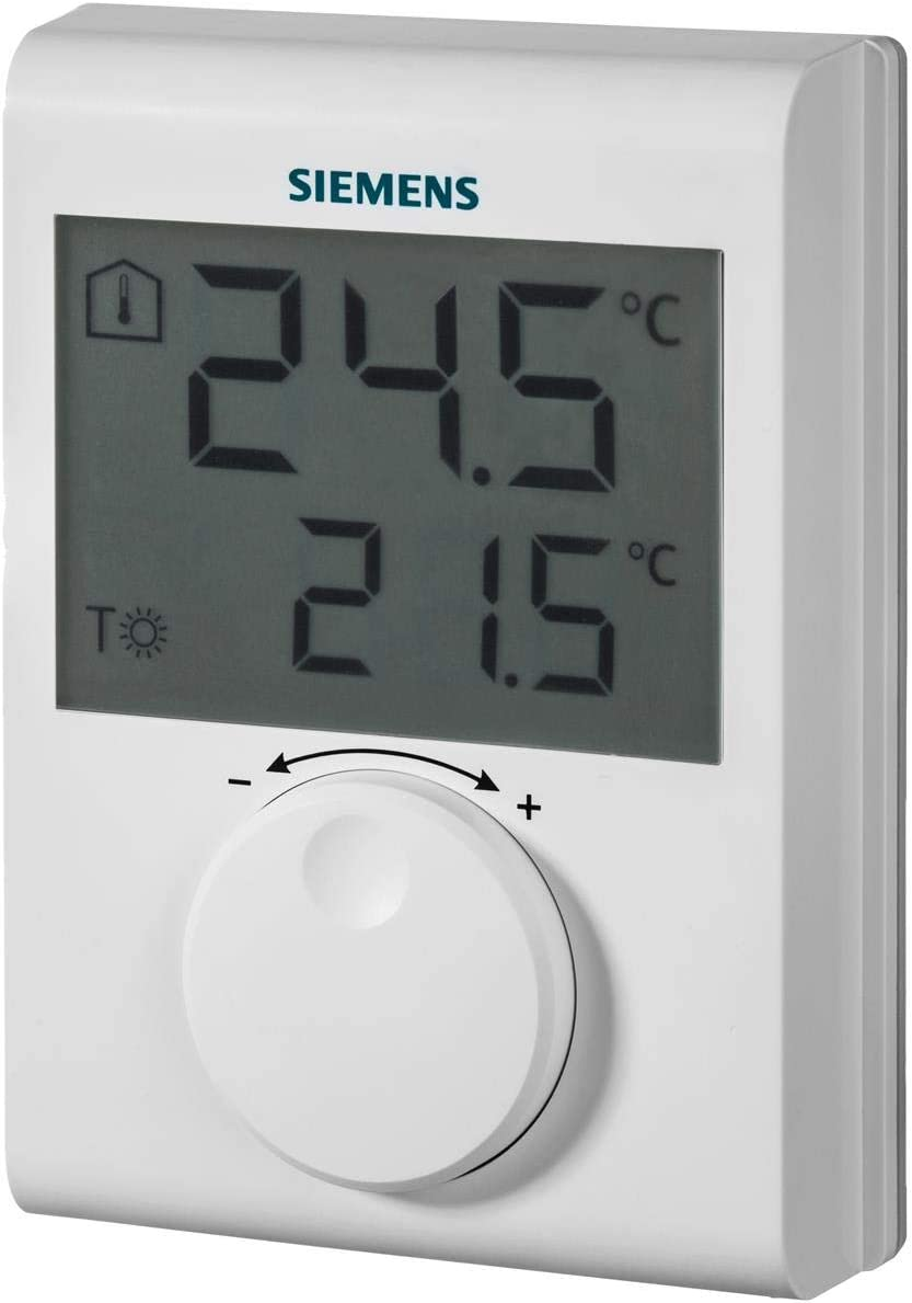 Siemens iQ500 RDH100 Blanco termoestato - Termostato (Blanco, IP20, 5-30 °C, LCD, Batería, AA)