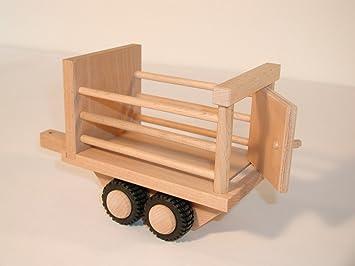 DREWA Mini - Trailer - Ganadería - Drewa camiones de madera: Amazon.es: Juguetes y juegos