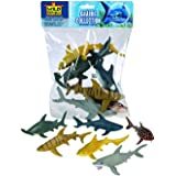 Wild Republic 64577 Shark Polybag, Toy Figurines, Gifts for Kids, Party Supplies, Sensory Play, Kids Toys, 6 Piece Set