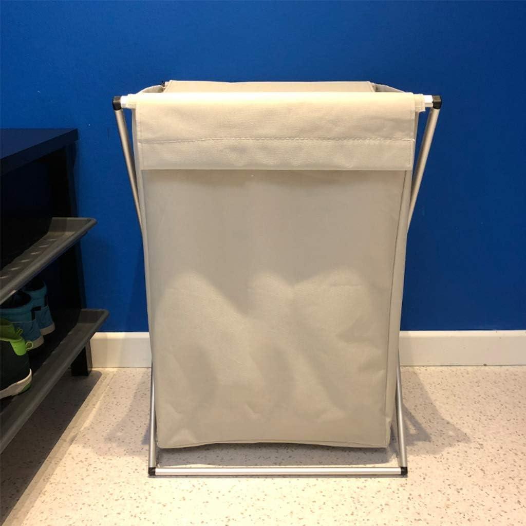 MMNP Panier À Linge En Alliage D'aluminium Support Tissu Oxford Hamper Pliable Panier De Rangement Des Ménages (Color : Gray-A) Gray-a