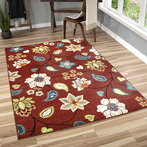 Orian Rugs 2313 Veranda Indoor/Outdoor Garden Chintz Area Rug 5'2