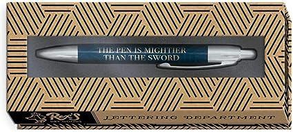 Bolígrafo decorativo en caja de regalo, el bolígrafo es más poderoso que la espada.: Amazon.es: Oficina y papelería
