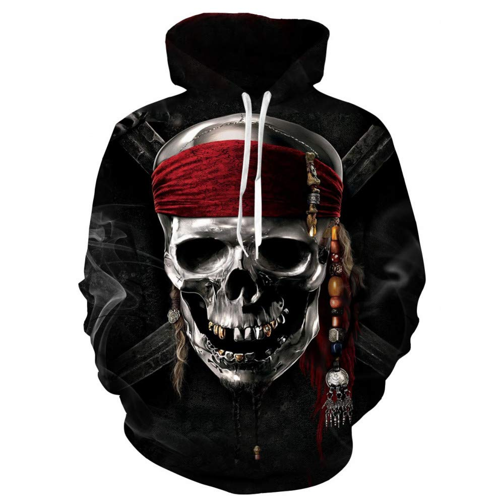 WEIYI214 XL 3D Hoody Coat Outwear Blouse Fashion Coat Winter Jacket with hat Digital Printing Sweater with Hood Sweater Male