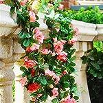 ZJJZH-Artificial-Decorative-Flowers-Simulation-Rhododendron-Green-Leaf-Flower-Vine-Artificial-Flower-Rose-Rattan-Vine-Leaf-Vine-Fake-Flower-Decoration-Wall-Hanging-Flower-165cm-Artificial-Flowers