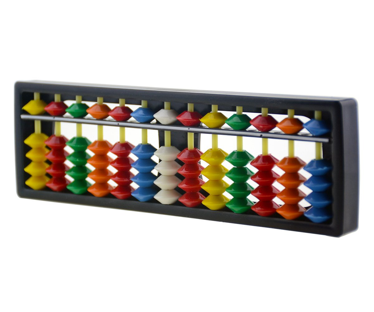 Wowlife 13 Digits Rods with Colorful Beads Plastic Abacus Arithmetic Soroban Kid's Calculating Tool