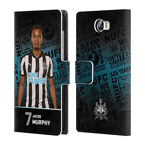 Murphy Compact Wallet (Official Newcastle United FC NUFC Jacob Murphy 2017/18 First Team 2 Leather Book Wallet Case Cover for Huawei Y6 II Compact)