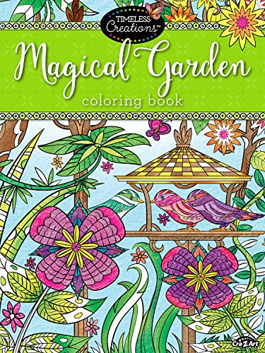 Cra-Z-Art Timeless Creations Adult Coloring Books: Magical Gardens Crative Coloring Book (16270-6) by Cra-Z-Art