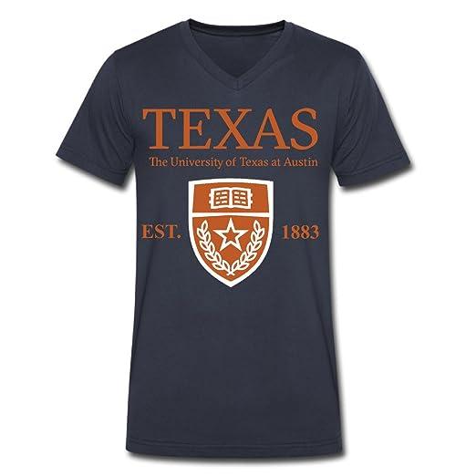 843d093a94b4c3 Men's University Of Texas At Austin Established 1883 V Neck T Shirt Navy