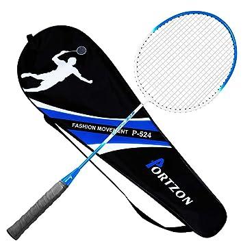 inklusive Tragetasche hochwertiger Badmintonschl/äger Portzon Badmintonschl/äger aus Ferrolegierung
