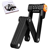 Folding Lock, Passwords Bike Lock AUSELECT Portable Road Lock Anti-Theft Lock with Mounting Bracket