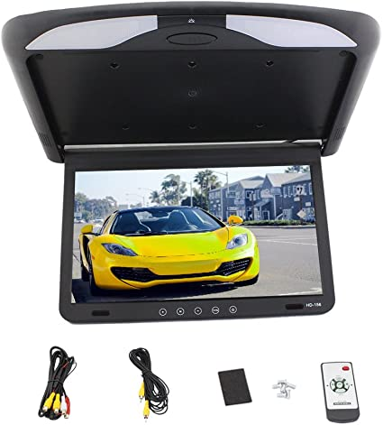 "HDMI 12.1/"" LCD TFT Car//SUV//TRUCK Flip Down Roof Mount Monitor USB Ceiling IR"