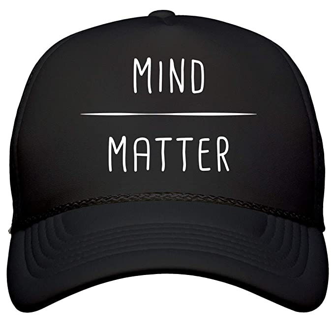 dd8dff39fd23c Customized Girl Mind Over Matter Runners Hat  Film and Foil Solid Color  Snapback Trucker Black