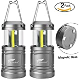 Lantern Lights with Magnetic Base, Hausbell Portable Collapsible LED Camping Lantern Flashlights - Survival Kit for Emergency, Hurricane, Storm, Outage