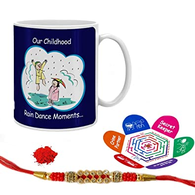 Indi ts Rain Dance Moments Quote Printed Gift Set Mug