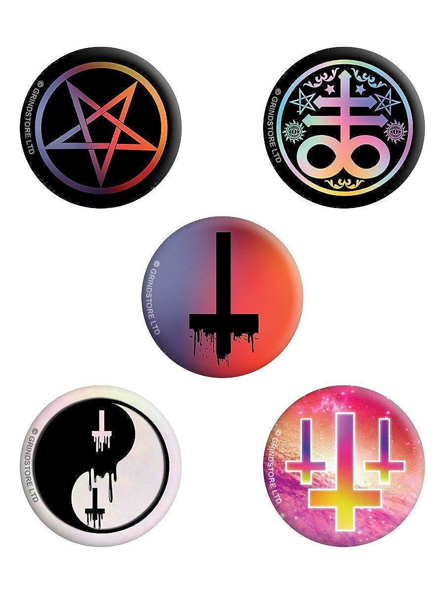 Lot de badges mixtes Vibrant Pastel Goth