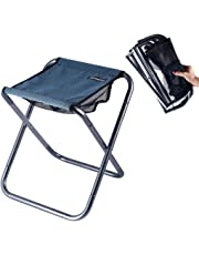 "Ultralight Portable Folding Camping Stool for Outdoor Fishing Hiking Backpacking Travelling Little Stools(X-Large:15.7""x14.2""x13""; Large:12""x12""x9.8""; Medium:10.6""x9.4""x8.6"" for Kids)"