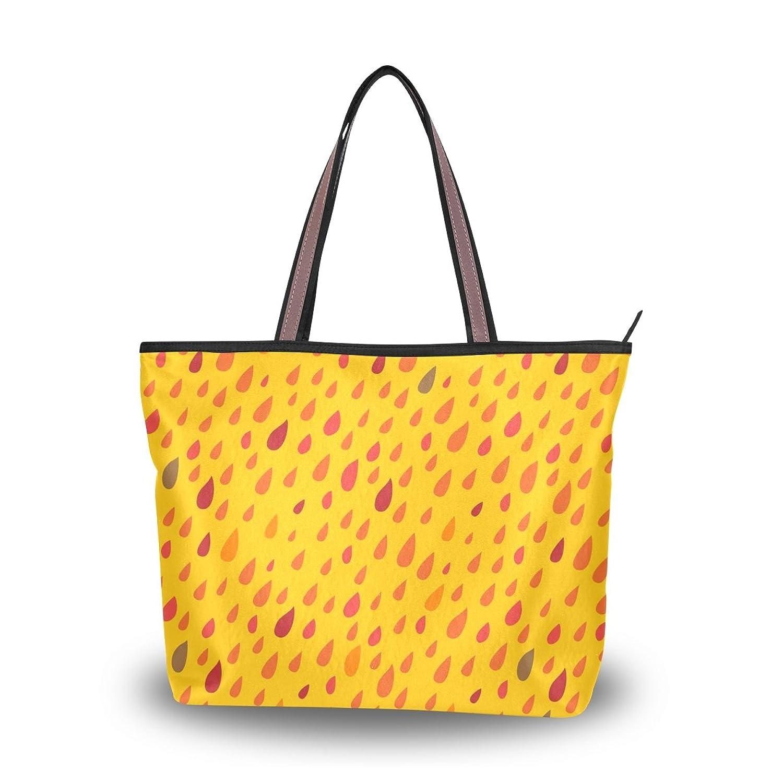 Senya Women's Handbag Microfiber Large Tote Shoulder Bag, Colorful Drops