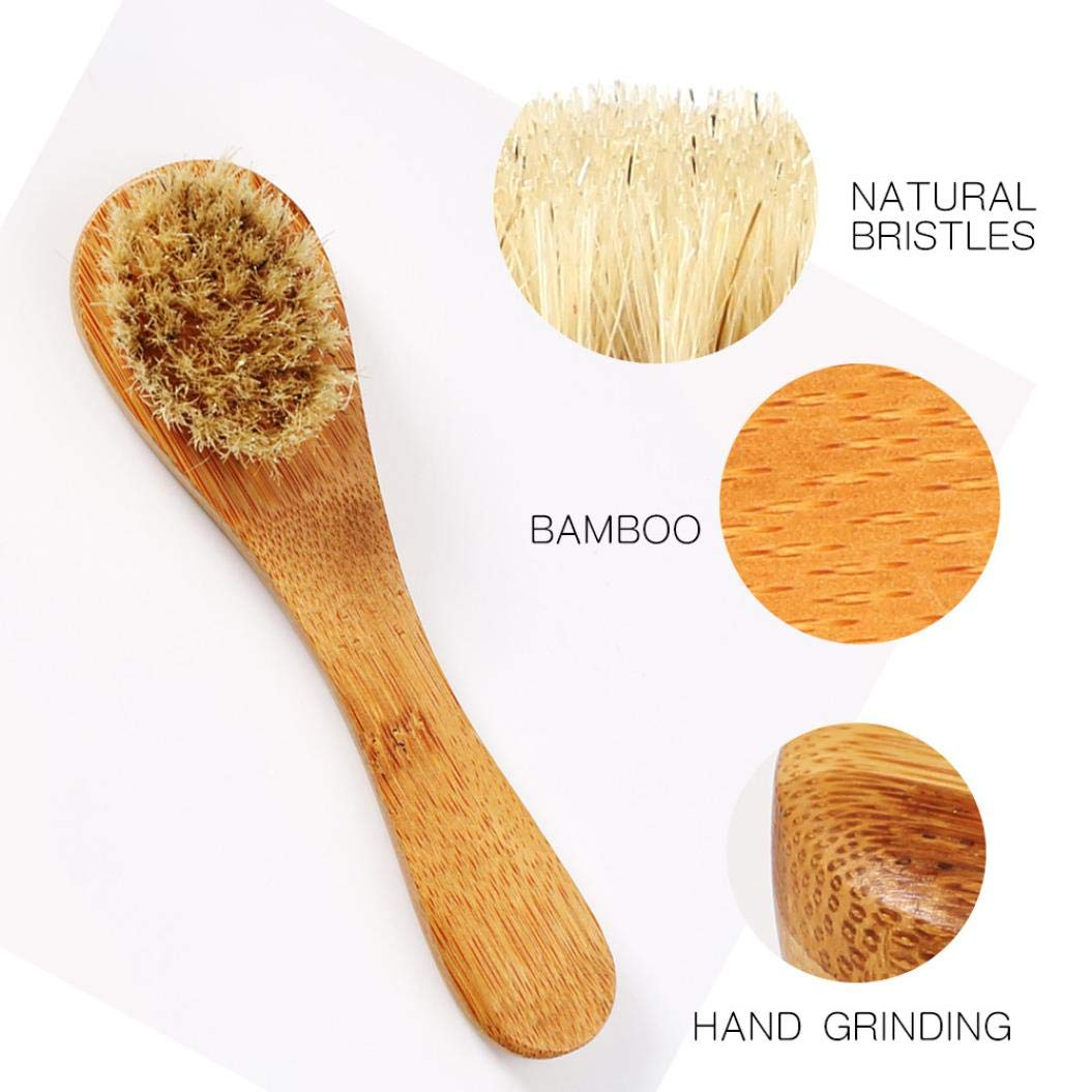 Dry Brushing Body Brush, Bamboo Natural Boar Bristles for Lymphatic Drainage, Skin Exfoliation - Cellulite Massager, Long & Contoured Brush, Lava Pumice Stone Gift, How to Guide Glowing Skin (Yellow) by DICPOLIA Beauty (Image #5)