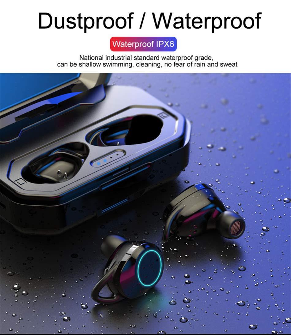 OUYAWEI TWS Wireless Bluetooth Headset 5.0 Mini In-Ear Waterproof Touch Sports Headphones