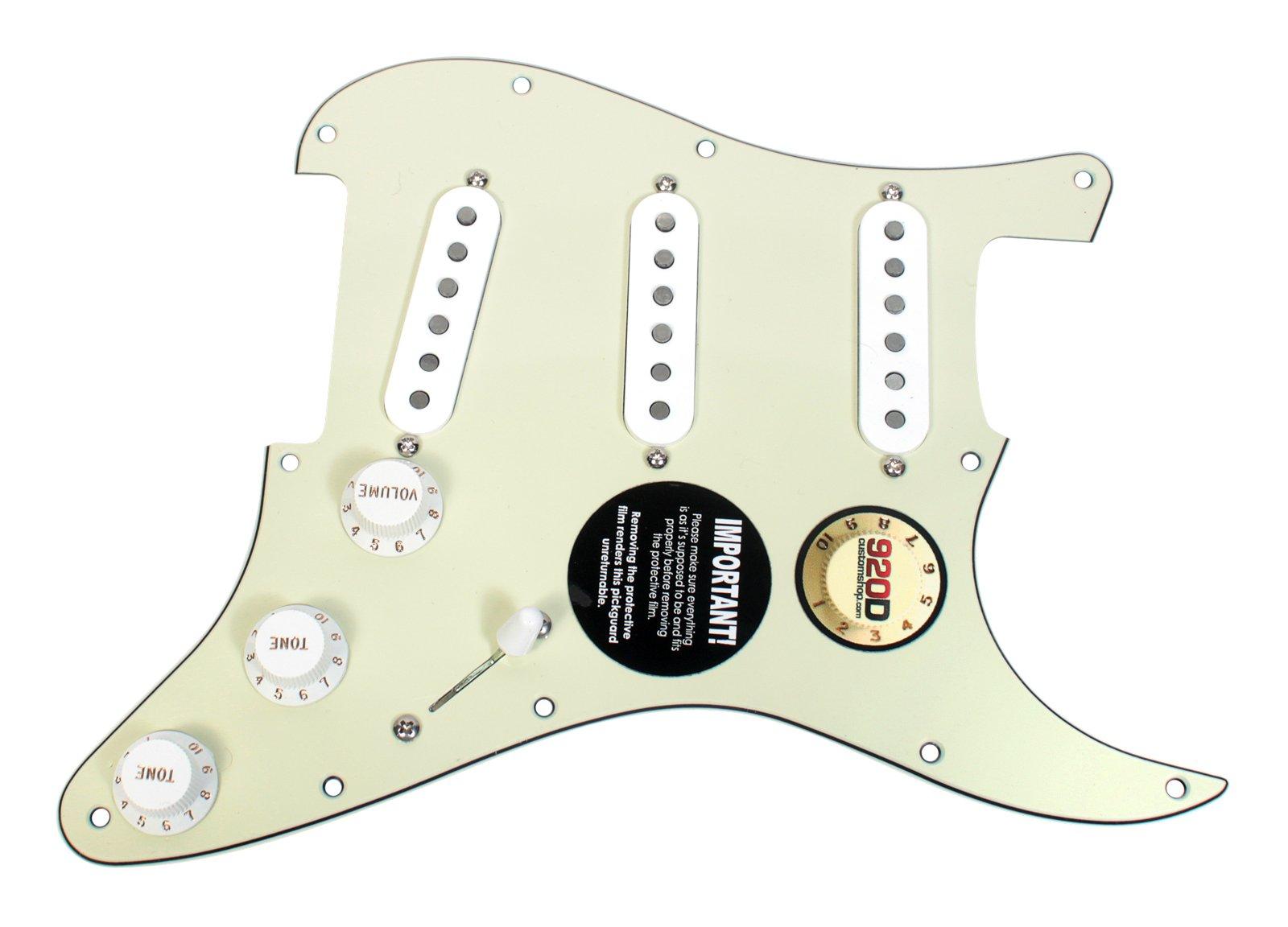 Seymour Duncan SSL-1 Loaded Strat Pickguard Strat Mint Green / White