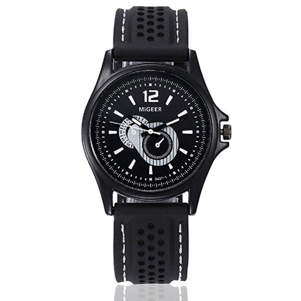 Reloj de Cuarzo para Hombre, Scpink único Moda Negocios Reloj clásicos Deportivo Reloj Bisel de Acero Inoxidable Wrist Reloj Redondo Dial Digital Reloj ...