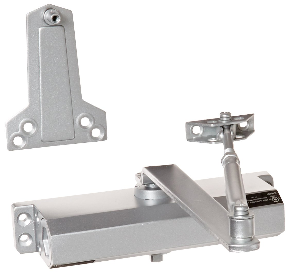 B00562WS1Q Hager 5400 Series Aluminum Grade 2 Standard Duty Surface Door Closer, Multi-Mount, 4 Fixed Spring Size, Sprayed Aluminum Finish 6168O8AOovL._SL1127_