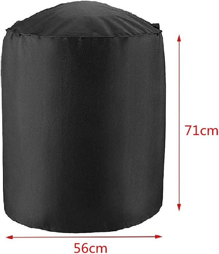 KinderALL Outdoor Furniture Covers Garden Furniture Covers Waterproof Rectangular Patio Round Round Garden Table Covers Waterproof Table Covers Waterproof 71 56cm,black