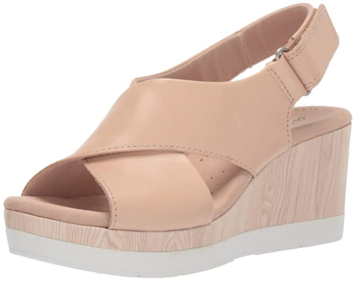 Womens Clarks Cammy Pearl Slingback Wedge Sandal