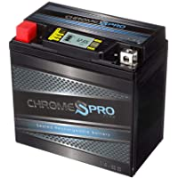 $35 » Rechargeable YTX14-BS iGel Powersport Battery- Sealed, AGM Maintenance Free Battery- Chrome…